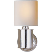 Visual Comfort TOB2011PN-NP Thomas OBrien Metropolitan 1 Light 6 inch Polished Nickel Bath Wall Light in Natural Paper