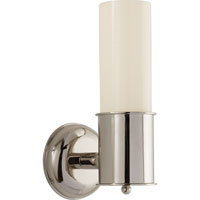 Thomas OBrien Metropolitan 1 Light 5 inch Polished Nickel Bath Wall Light in White Glass
