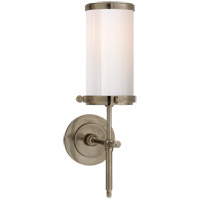 Visual Comfort Thomas OBrien Bryant 1 Light Bath Wall Light in Antique Nickel with White Glass Shade TOB2015AN-WG