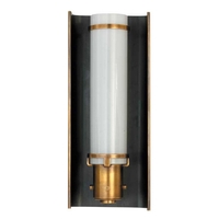 Visual Comfort TOB2016BZ/HAB Thomas OBrien Greenwich 1 Light 4 inch Bronze with Antique Brass Accents Bath Wall Light