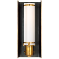 Visual Comfort TOB2016BZ/HAB Thomas O'Brien Greenwich 1 Light 4 inch Bronze with Antique Brass Accents Bath Wall Light