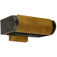 Visual Comfort Thomas OBrien David 1 Light Art Light in Bronze with Antique Brass Shade TOB2020BZ/HAB