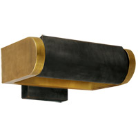 Visual Comfort Thomas OBrien David 1 Light Art Light in Hand-Rubbed Antique Brass with Bronze Shade TOB2020HAB/BZ