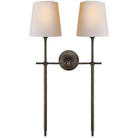 Visual Comfort TOB2025BZ-NP Thomas O'Brien Bryant 2 Light 16 inch Bronze Wall Sconce Wall Light, Large Double Tail