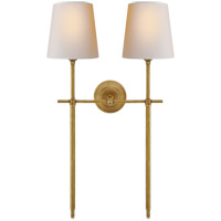 Visual Comfort TOB2025HAB-NP Thomas O'Brien Bryant 2 Light 16 inch Hand-Rubbed Antique Brass Wall Sconce Wall Light, Large Double Tail
