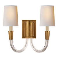 Visual Comfort TOB2033HAB-NP Thomas OBrien Vivian 2 Light 14 inch Hand-Rubbed Antique Brass Decorative Wall Light