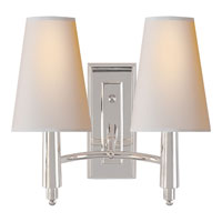 Visual Comfort Thomas OBrien Farlane 2 Light Decorative Wall Light in Polished Silver TOB2046PS-NP