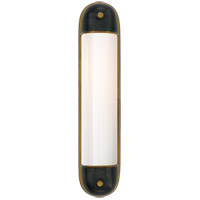 Visual Comfort TOB2062BZ/HAB-WG Thomas OBrien Selecta 2 Light 5 inch Bronze with Antique Brass Accents Bath Wall Light
