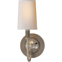 Thomas OBrien Elkins 1 Light 6 inch Antique Nickel with Polished Nickel Decorative Wall Light in Natural Paper