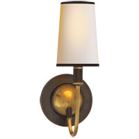 Visual Comfort TOB2067BZ/HAB-NP/BT Thomas O'Brien Elkins 1 Light 6 inch Bronze with Antique Brass Accents Decorative Wall Light in Natural Paper