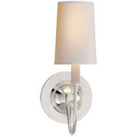 Thomas OBrien Elkins 1 Light 6 inch Polished Silver Decorative Wall Light in (None), Natural Paper