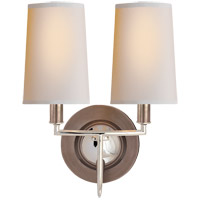 Visual Comfort TOB2068AN/PN-NP Thomas O'Brien Elkins 2 Light 10 inch Antique Nickel with Polished Nickel Decorative Wall Light