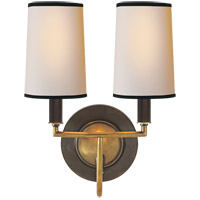 Visual Comfort TOB2068BZ/HAB-NP/BT Thomas O'Brien Elkins 2 Light 10 inch Bronze with Antique Brass Accents Decorative Wall Light photo thumbnail