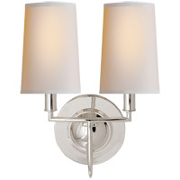 Visual Comfort TOB2068PS-NP Thomas Obrien Elkins 2 Light 10 inch Polished Silver Decorative Wall Light