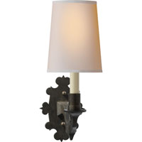 Visual Comfort Thomas OBrien Leyland 1 Light Decorative Wall Light in Aged Iron with Wax TOB2070AI-NP