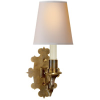 Visual Comfort TOB2070HAB-NP Thomas Obrien Leyland 1 Light 6 inch Hand-Rubbed Antique Brass Decorative Wall Light photo thumbnail
