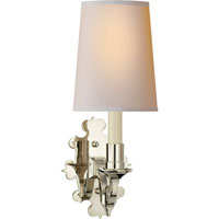 Visual Comfort Thomas OBrien Leyland 1 Light Decorative Wall Light in Polished Nickel TOB2070PN-NP