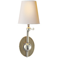 Visual Comfort TOB2081AN/PN-NP Thomas Obrien Alton 1 Light 6 inch Antique Nickel with Polished Nickel Decorative Wall Light