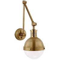 Visual Comfort TOB2090HAB-WG Thomas Obrien Hicks 30 inch 60 watt Hand-Rubbed Antique Brass Swing-Arm Wall Light