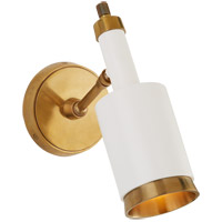 Thomas Obrien Anders 1 Light 5 inch Hand-Rubbed Antique Brass and White Articulating Wall Sconce Wall Light, Small