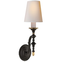 Visual Comfort TOB2110BR/HAB-NP Thomas O'Brien Chandler 1 Light 6 inch Blackened Rust with Antique Brass Decorative Wall Light