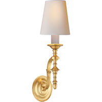 Visual Comfort Thomas OBrien Chandler 1 Light Decorative Wall Light in Hand-Rubbed Antique Brass TOB2110HAB-NP
