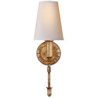 Visual Comfort TOB2114G-NP Thomas OBrien Michel 1 Light 5 inch Gild Sconce Wall Light, Thomas O'Brien, Natural Paper Shade