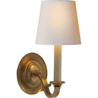 Visual Comfort Thomas OBrien Channing 1 Light Decorative Wall Light in Hand-Rubbed Antique Brass TOB2120HAB-NP