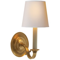 Visual Comfort TOB2120HAB-NP Thomas Obrien Channing 1 Light 6 inch Hand-Rubbed Antique Brass Decorative Wall Light
