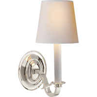 Visual Comfort Thomas OBrien Channing 1 Light Decorative Wall Light in Polished Silver TOB2120PS-NP