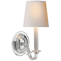 Visual Comfort TOB2120PS-NP Thomas OBrien Channing 1 Light 6 inch Polished Silver Decorative Wall Light