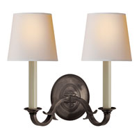 Thomas OBrien Channing 2 Light 15 inch Bronze Decorative Wall Light