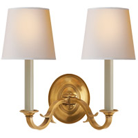 Visual Comfort TOB2121HAB-NP Thomas Obrien Channing 2 Light 15 inch Hand-Rubbed Antique Brass Decorative Wall Light