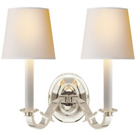 Visual Comfort TOB2121PS-NP Thomas OBrien Channing 2 Light 15 inch Polished Silver Decorative Wall Light