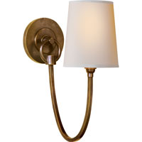 Visual Comfort Thomas OBrien Reed Single Sconce in Hand-Rubbed Antique Brass with Natural Paper Shade TOB2125HAB-NP - Open Box