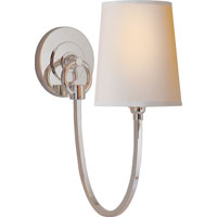 Visual Comfort Thomas OBrien Reed 1 Light Decorative Wall Light in Polished Nickel TOB2125PN-NP