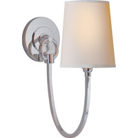 Visual Comfort Thomas OBrien Reed 1 Light Decorative Wall Light in Polished Silver TOB2125PS-NP
