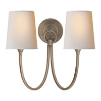 Visual Comfort Thomas OBrien Reed 2 Light Decorative Wall Light in Antique Nickel TOB2126AN-NP