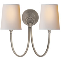 Visual Comfort TOB2126AN-NP Thomas O'Brien Reed 2 Light 15 inch Antique Nickel Decorative Wall Light