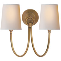 Thomas O'Brien Reed 2 Light 15 inch Hand-Rubbed Antique Brass Decorative Wall Light