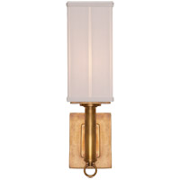 Visual Comfort Thomas OBrien Germain 1 Light Decorative Wall Light in Hand-Rubbed Antique Brass with Silk Shade TOB2130HAB-S