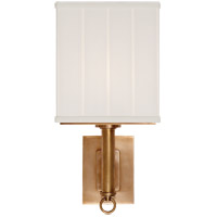 Visual Comfort Thomas OBrien Germain 1 Light Decorative Wall Light in Hand-Rubbed Antique Brass with Silk Shade TOB2131HAB-S