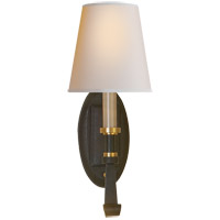 Visual Comfort TOB2135BR/HAB-NP Thomas O'Brien Calliope 1 Light 6 inch Blackened Rust with Antique Brass Decorative Wall Light