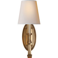 Visual Comfort TOB2135HAB-NP Thomas OBrien Calliope 1 Light 6 inch Hand-Rubbed Antique Brass Decorative Wall Light in (None)