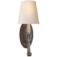 Visual Comfort TOB2135SN-NP Thomas O'Brien Calliope 1 Light 6 inch Sheffield Nickel with Antique Nickel Sconce Wall Light