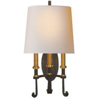Visual Comfort TOB2137BR/HAB-NP Thomas O'Brien Calliope 3 Light 11 inch Blackened Rust with Antique Brass Decorative Wall Light