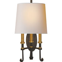 Visual Comfort TOB2137BR/HAB-NP Thomas OBrien Calliope 3 Light 11 inch Blackened Rust with Antique Brass Decorative Wall Light