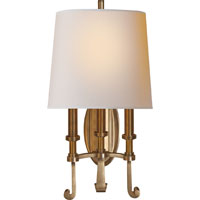 Thomas OBrien Calliope 3 Light 11 inch Hand-Rubbed Antique Brass Decorative Wall Light in (None)