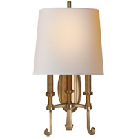 Visual Comfort TOB2137HAB-NP Thomas OBrien Calliope 3 Light 11 inch Hand-Rubbed Antique Brass Decorative Wall Light in (None)