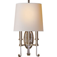 Visual Comfort Thomas OBrien Calliope 3 Light Decorative Wall Light in Polished Nickel TOB2137PN-NP
